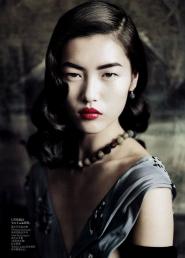 Liu Wen Для Vogue China сентябрь 2010