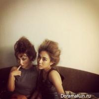 Фей и Мин из miss A показали свои авангардные причёски