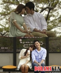 Сюзи целует Ли Хён Чжина на автобусной остановке