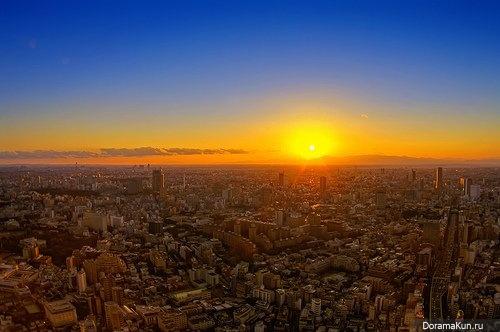 закат над Токио