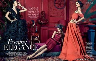 Kiki Kang и др. для Harper's Bazaar Vietnam