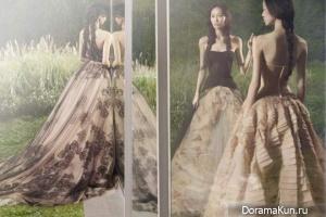 Ling Ling Kong,Tian Yi и Qin Shu Pei для Vera Wang весна-лето 2012