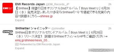 SHINee выпустят второй японский альбом Boys Meet U