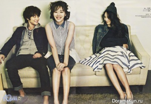 Минхо из SHINee и Солли и Кристал из f(x)