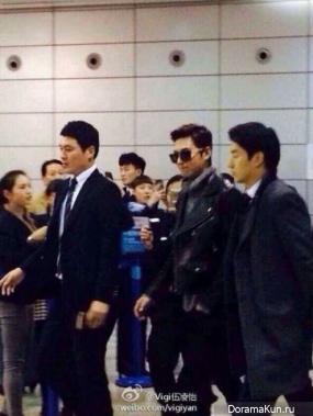 Ли Мин Хо в аэропорту Шанхая