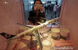 Eva Air и самолеты в стили Hello Kitty (Тайвань)