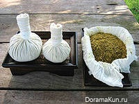 Императорский массаж с травяными мешочками