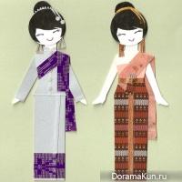 Традиционные костюмы Таиланда.