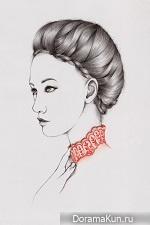 Необычные минималистичные портреты Peony Yip. Фото