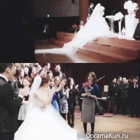 Юн Ын Хе поймала букет невесты на свадьбе
