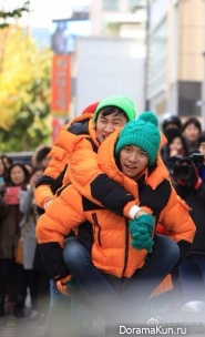 Ли Сын Ги замечен на съемках Бегущего человека