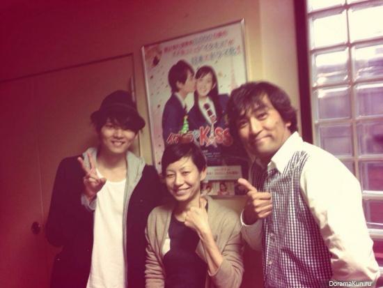 Фурукава Юки встретился с актерами драмы Озорной поцелуй - Любовь в Токио