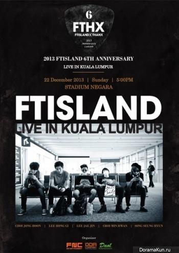 FT Island готовятся отпраздновать своё 6-летие в Куала-Лумпуре