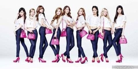 Girls Generation будут представлять бренд Samantha Thavasa Jeans