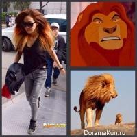 Суён сравнила волосы Юри с гривой льва