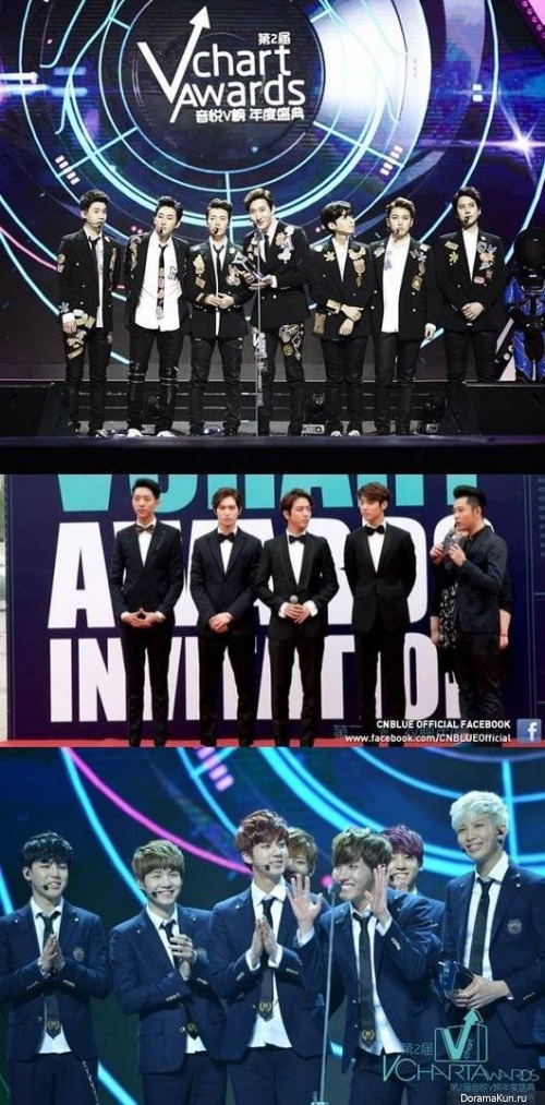 SNBlue, Super Junior, Super Junior-M, EXO и BTS получили награды на Yin Yue Tai's V-Chart Awards