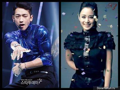 Рейн и Ким Тэ Хи