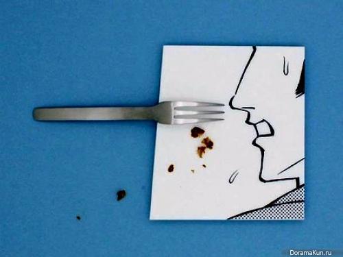 Арт-тарелки от Мики Цутай для любителей суши, посуды и комиксов