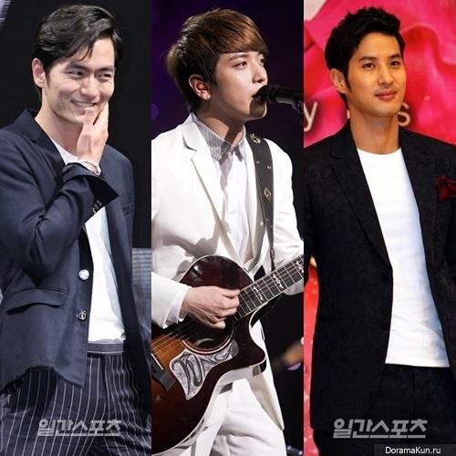 Lee Jin Wook, Kim Ji Seok and Jung Yonghwa