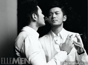 Huang Xiao Ming для ELLE April 2014