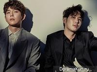 Yoon Kyun Sang, Kim Ji Suk для Elle 2017