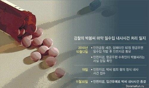 Пак Бом четыре года назад пыталась провезти в Корею наркотики
