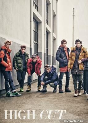 EXO-K в журнале 'High Cut'