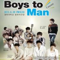 2AM, BTOB, и K.Will проведут концерт Boys to Man