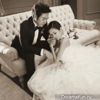 Ом Тэ Ун с женой