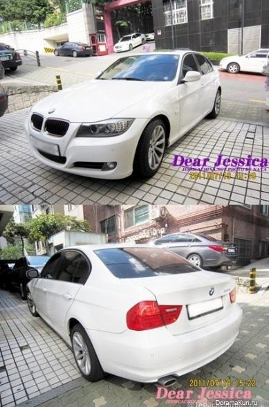 Машина Джессики из SNSD (BMW 320i):