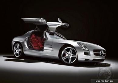 Машины Джунсу из JYJ (Maserati Granturismo и Mercedes-Benz SLS AMG):