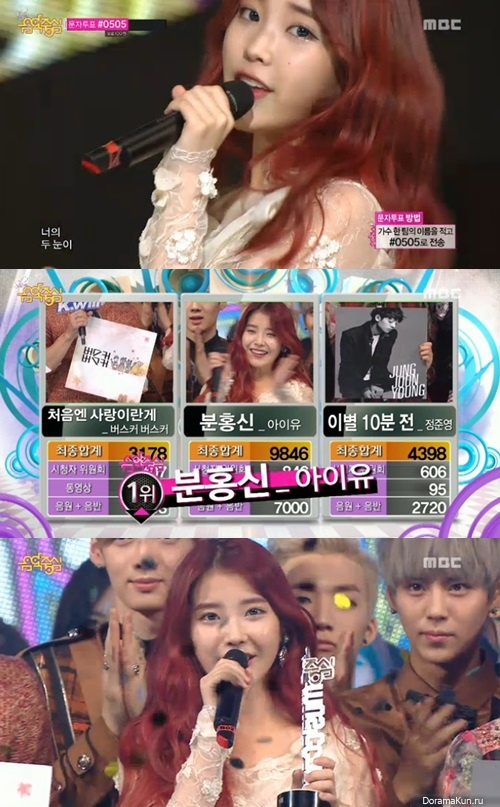 IU выиграла Show! Music Core
