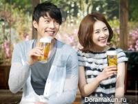 Hyun Bin и Lee Yeon Hee для Hite Beer