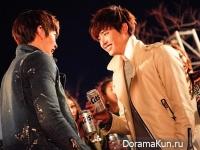 Kim Woo Bin и Lee Jong Suk для Cass Beer