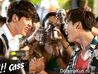 Kim Woo Bin и Lee Jong Suk для Cass Beer 3