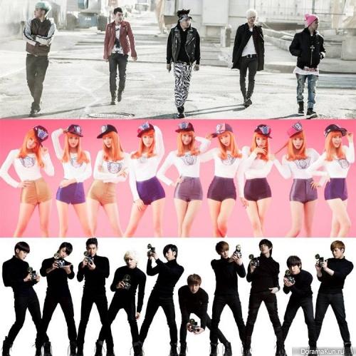 Big Bang, Girls Generation, Super Junior