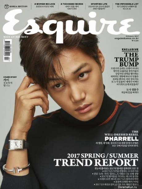Kai (EXO) для Esquire February 2017