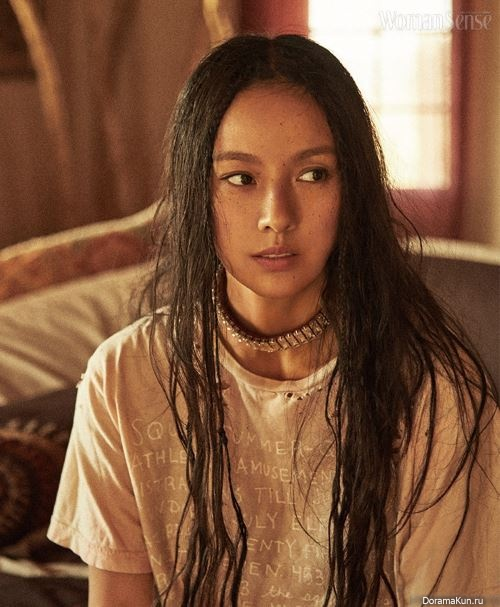 hair brown hyori Lee