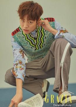 Lee Hyun Woo для Grazia April 2017