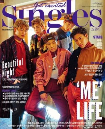 SHINee для Singles December 2016