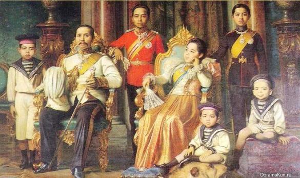Король Рама V и королева Саована