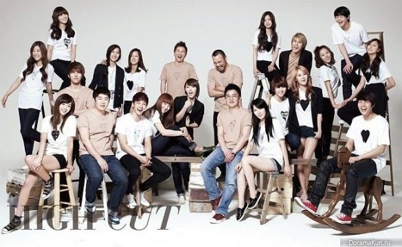 Cube Entertainment артисты
