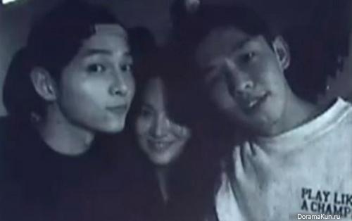 Yoo Ah In, Song Hye Kyo and Song Joong Ki