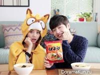 Hyeri из Girl's Day и Kang Ha Neul для Neoguri