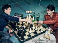 Kim Bum и Yoo Yeon Seok для Cosmopolitan January 2015
