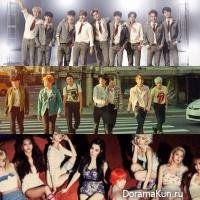 BTS, EXO, Girls' Generation