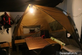 Camping cafe in Hongdae