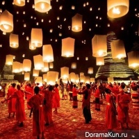 Festival paper lanterns in Seoul