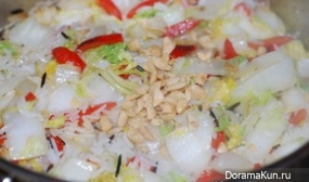 Jasmine rice with Chinese cabbage