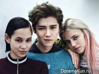 Luhan, Kiko Mizuhara для Vogue 2016